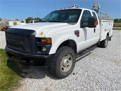 2008 Ford F350 XL Super Duty 4x4 Extended Cab Service Truck