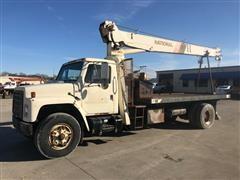 1987 International 1954 Flatbed Boom Truck W/ National 456A 10 Ton Crane