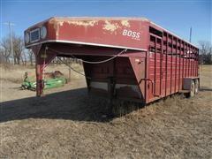 1992 Boss 8020 GN T/A Livestock Trailer