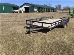 1992 Big Tex 16FTLA 16' Flatbed Trailer