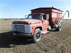 1971 Ford F700 S/A Truck W/ 250 Bu. Apache Gravity Box & Seed Auger