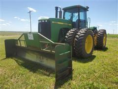 1998 John Deere 9200 4WD Tractor W/14' Otter Dozer Blade