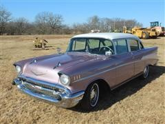 1957 Chevrolet BelAir Antique 4 Door Passenger Car