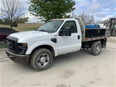 2008 Ford F350XL Super Duty 4x2 Flatbed Utility Truck