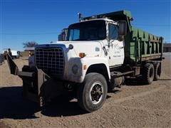1986 Ford LT8000 T/A Dump Truck With Snow Blade