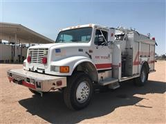 1996 International 4800 4x4 Fire Truck