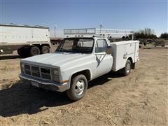 1986 GMC Sierra Pickup W/Service Utility Box