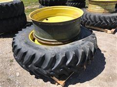 John Deere 16X42 Rims W/Goodyear Tires