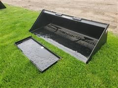 """Tomahawk 3014/3018 72"""" Wide Bucket & Mounting Plate Skid Steer Attachments"""