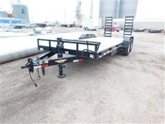 2016 H&H Dove Tail T/A Trailer W/Ramps