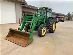 1997 John Deere 5400 MFWD Tractor W/Loader