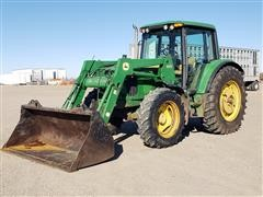 2005 John Deere 6420 MFWD Tractor W/JD 640 Loader