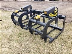Mid-State Brush/Root Grapple Skid Steer Attachment