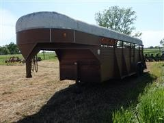 1981 Flying L 7X24 T/A Livestock Trailer