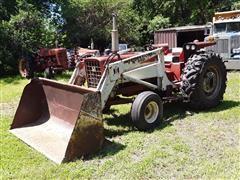 1967 International 656 Utility 2wd Tractor W/Loader
