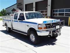 1995 Ford F350 XL 4WD 4 Door Service Box Water Truck
