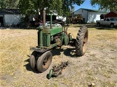 John Deere B 2WD Tractor For Parts