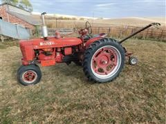 1941 McCormick Farmall H 2WD Tractor W/Belt-Drive Bar Mower