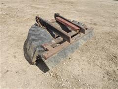 Shop-Built Skid Steer Pallet Fork Tire Scraper