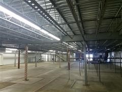 Schmidt SpaceLoft Wide-Span Structural Mezzanine W/Electric Conveyor & Stairwells