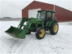 2004 John Deere 5420 MFWD Tractor W/Loader