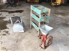 Small Grain Cleaner, Grain Grinder & Roof Vent