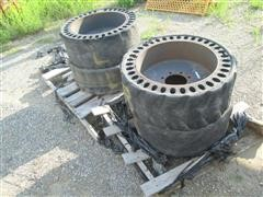 12X16.5 Solid Rubber Skid Loader Tires