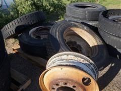 11R24.5 Recap Tires & Steel Wheels