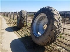 Case International & Goodyear Radial 18.4R42 Tires/Rims