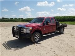 2013 Ford F350 4x4 Extended Cab Hydra Flatbed Pickup