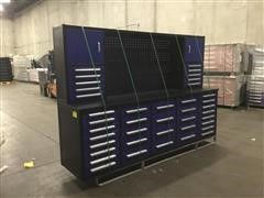 2021 Suihe 10' 40-Drawer Tool Cabinet W/Uppers Blue Work Bench