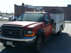 2000 Ford 550 Service/ Crane Truck