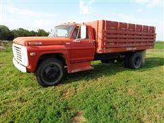 1972 Ford 600 Grain Truck W/13' Box W/Hoist