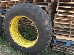 Goodyear Tractor Tire & John Deere Rim
