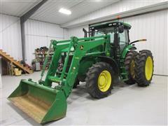 2014 John Deere 7200R MFWD Tractor w/H480 Loader