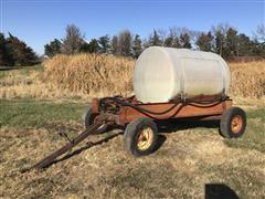 Shop Built Water Wagon W/Hydraulic Pump On Running Gear