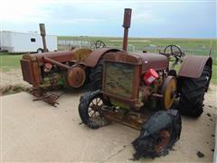 1936 & 38 John Deere D 2WD Tractors