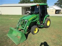 2008 John Deere 3520 MFWD Compact Utility Cab Tractor With 300 CX Loader