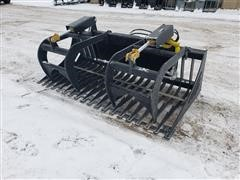 "2019 Mid States 72"" Skid Steer Rock/Brush Grapple"