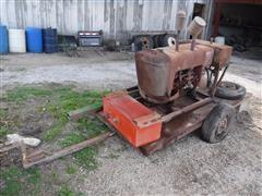 International Harvester Power Unit On Trailer W/ Hydraulic Pump
