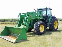 1997 John Deere 8300 MFWD Tractor W/Loader