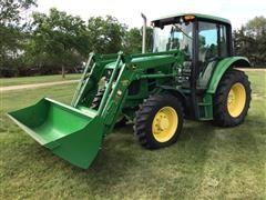 2008 John Deere 6230 MFWD Tractor W/Loader