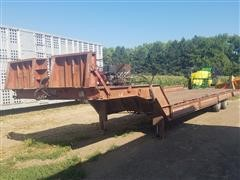 1975 Muv-All T/A Fixed Neck Lowboy Trailer W/Hyd Tail Section