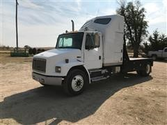 1998 Freightliner FL70 S/A Flatbed Truck W/Custom Bed & Gooseneck Hitch Ball