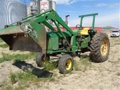 1968 John Deere 4020 2WD Tractor With Loader
