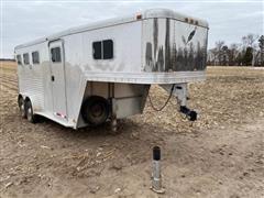 1995 Featherlite Gooseneck T/A 3 Horse Slant Aluminum Livestock Trailer