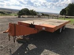 1984 Homemade T/A Tilt Deck Equipment Trailer
