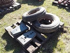 International Farmall Frame Rail Weights & Tires
