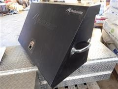 Montezuma M E300B Used Portable Black Tool Box