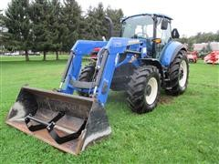 2016 New Holland T5.120 MFWD Tractor W/Loader
